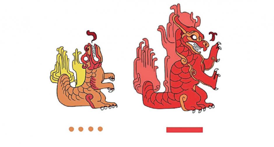 Charmander y Charmeleon en esta ilustración de la ilustradora mexicana. (Foto: excelsior.com.mx)