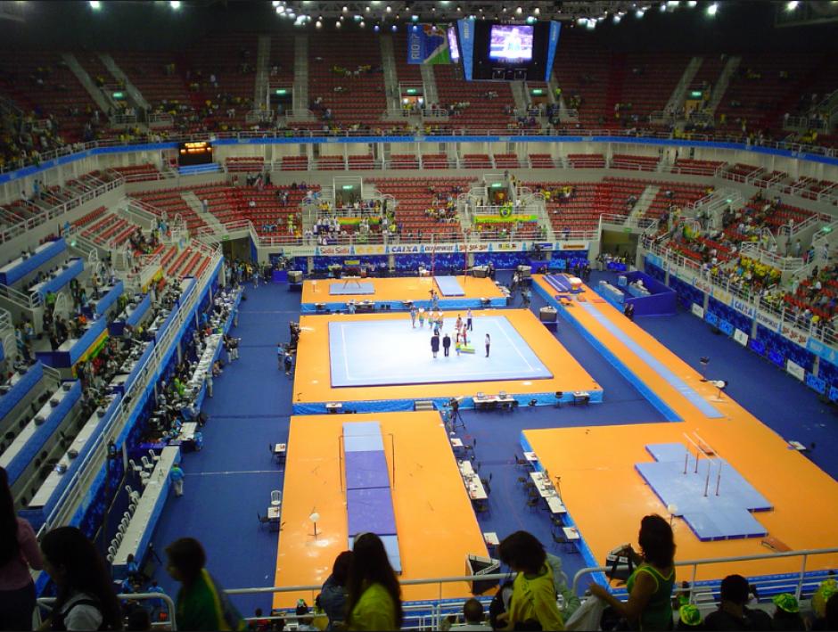 Vista interna de la Arena donde estarán las gimnastas (Flickr)