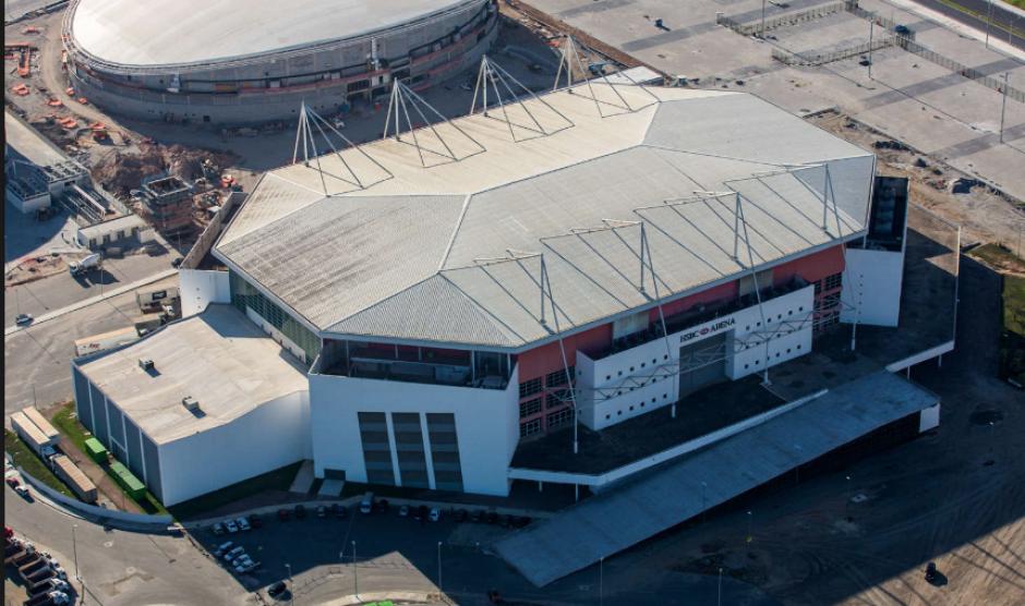 Imagen aérea de la Arena Olímpica de Río (Rio2016.com)