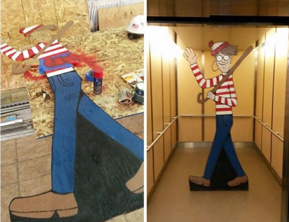 Así fue construido el personaje a tamaño real. (Foto: Facebook/Where's Waldo)