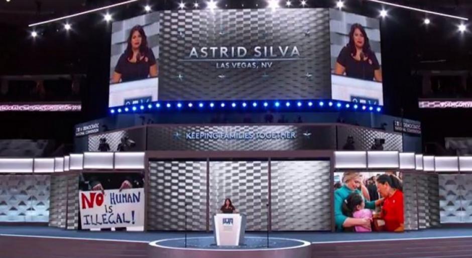 También Astrid Silva, una mexicana inmigrante compartió su experiencia. (Foto: Univisión Política)