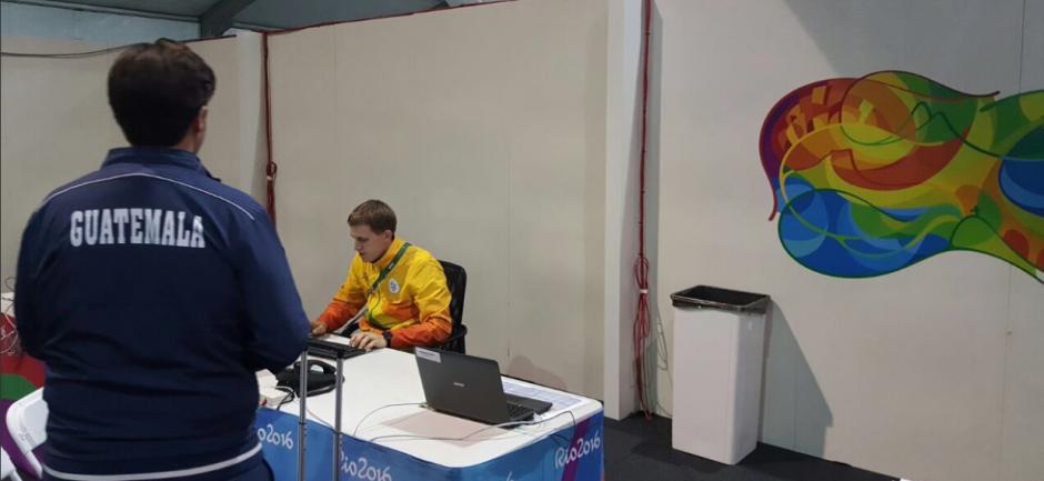Hebert Brol durante la acreditación. (Foto: COG)