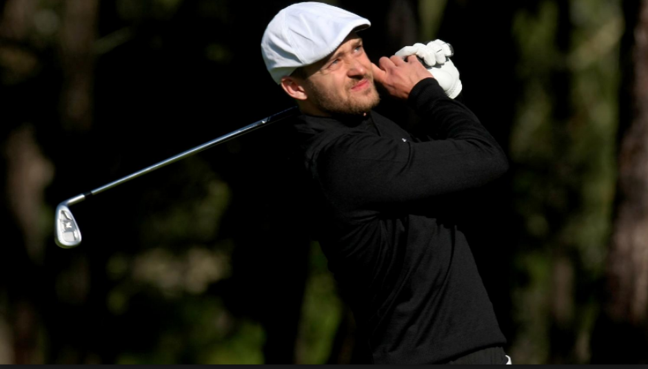 Justin Timberlake sufrió un golpe en un torneo de Golf. (Foto: SI.com)