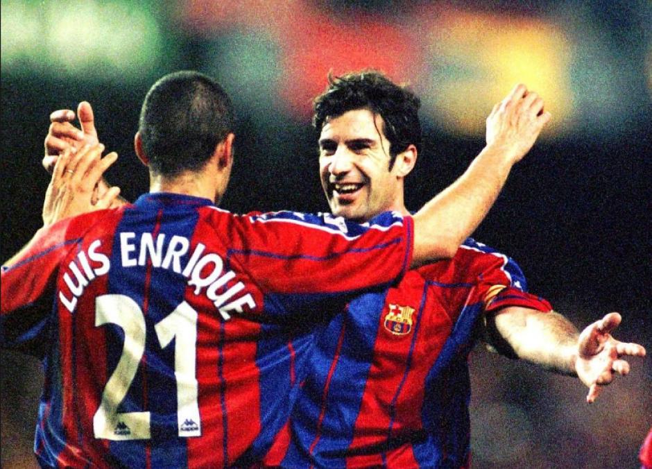 Luis Figo fue capitán y estrella del Barça antes de irse al Madrid. (Taringa)