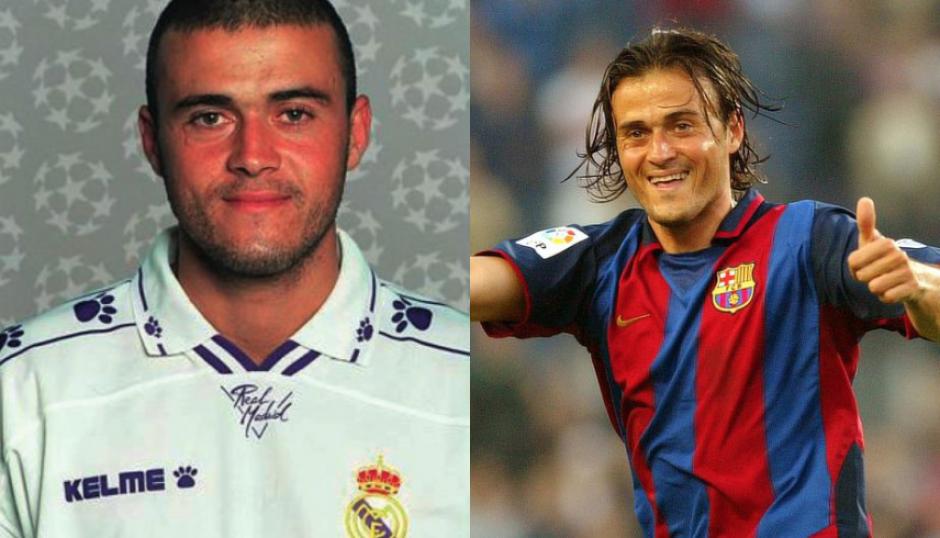 Luis Enrique, DT del Barça, jugó en el Real Madrid antes de ser azulgrana. (Taringa)
