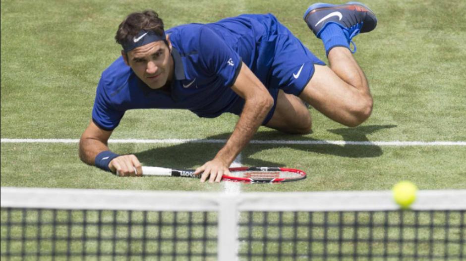 Se lesionó en una caída durante el torneo de Wimbledon (Foto: ESPN)