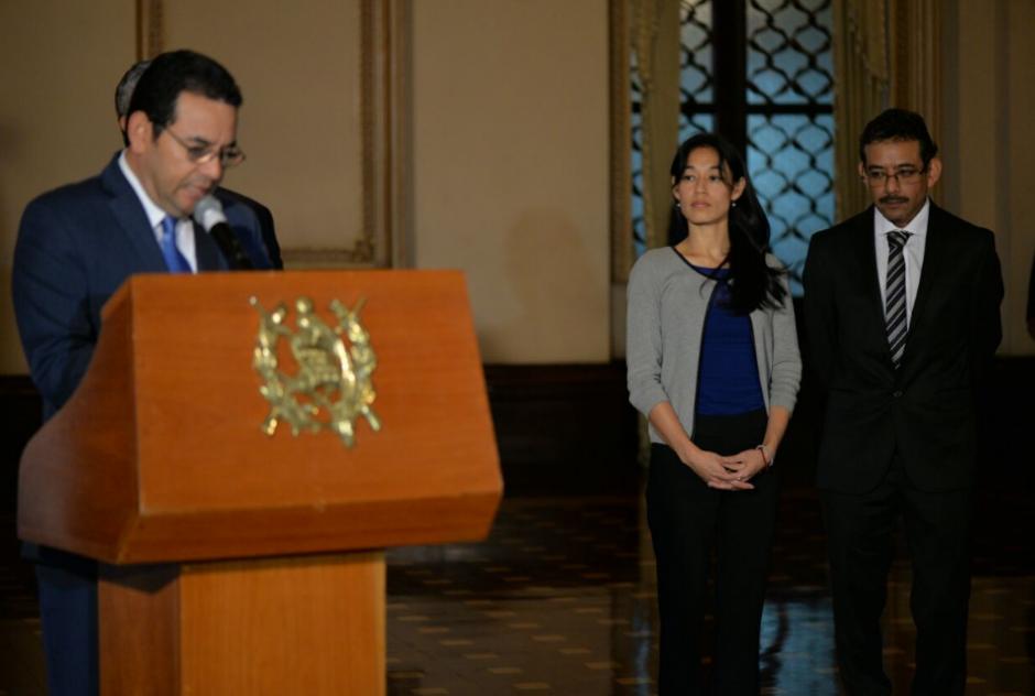 Jimmy Morales nombró a Lucrecia Hernández Mack como nueva Ministra de Salud. (Foto: Wilder López/Soy502)