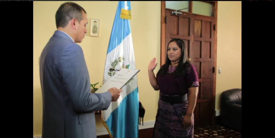 Carolina Janneth Miranda Salvador asumió como Directora de Migración. (Foto: Mingob)