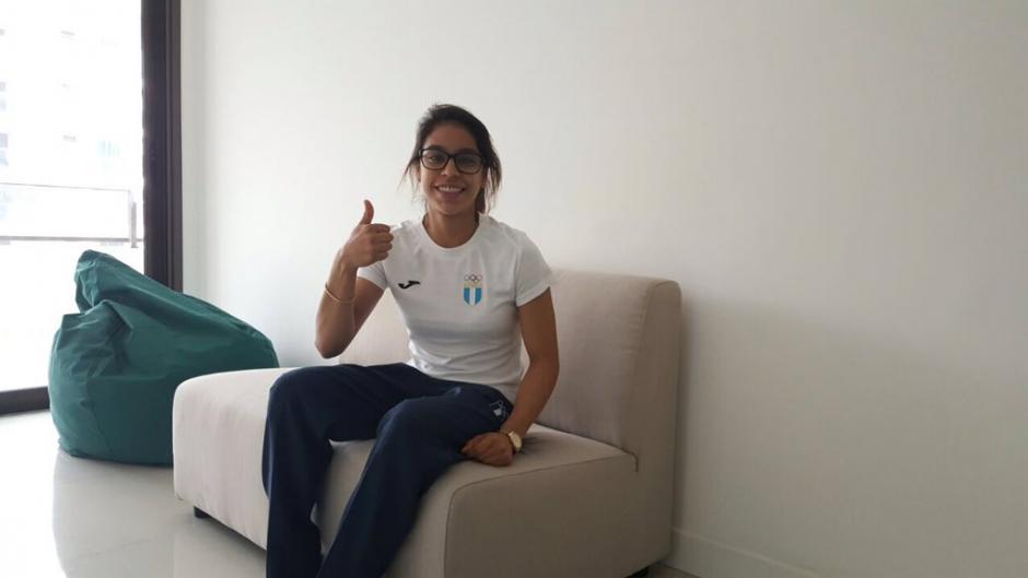 La gimnasta guatemalteca fue de las primeras de nuestro país en llegar. (COG)