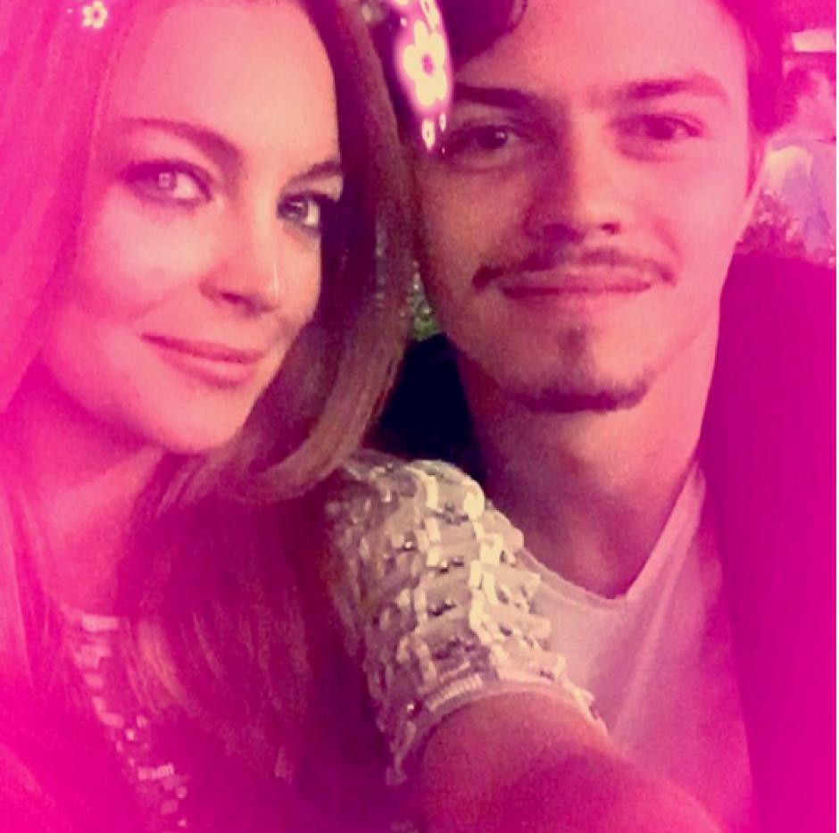 La pareja vivió un momento incómodo el fin de semana en su casa. (Foto: Instagram Lindsay Lohan)
