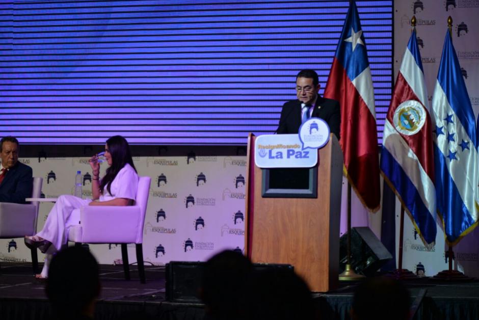 El presidente Jimmy Morales participó de la inauguración del Foro Esquipulas. (Foto: Wilder López/Soy502)