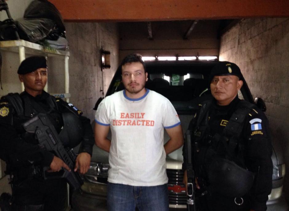 El sindicado tiene 30 años y fue detenido en San Miguel Petapa. (Foto: PNC)