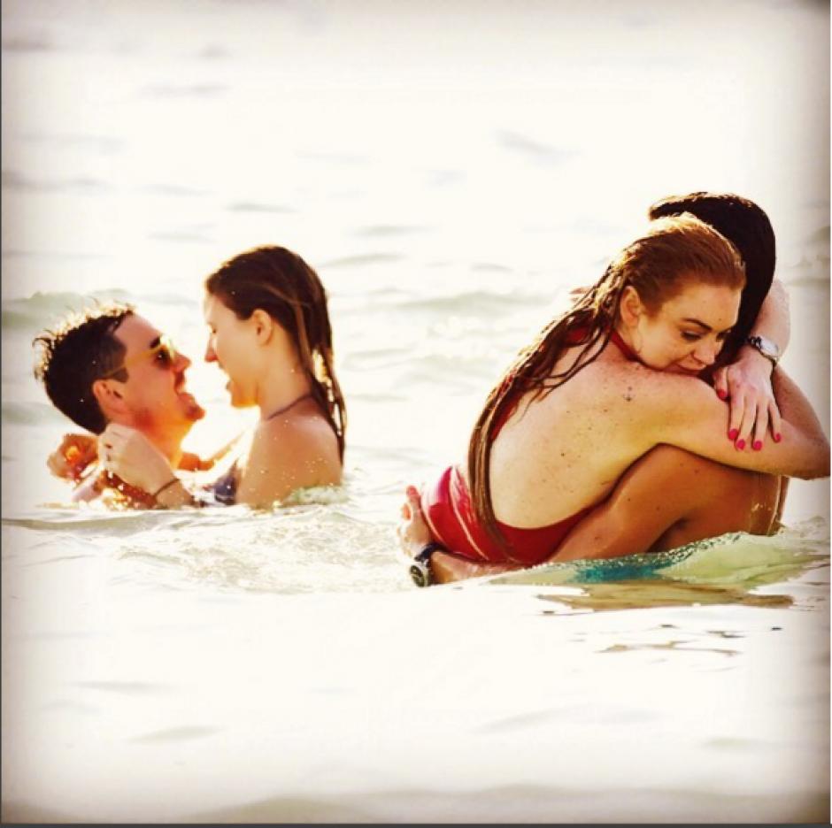 La pareja se ha visto muy acaramelada en diversas ocasiones en lugares públicos. (Foto: Instagram Lindsay Lohan)
