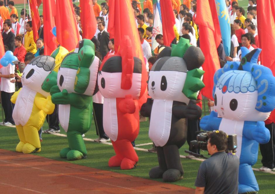 Beibei, Jingjing, Huanhuan, Yingying y Nini, de Pekín 2008 (Anyo Photo)