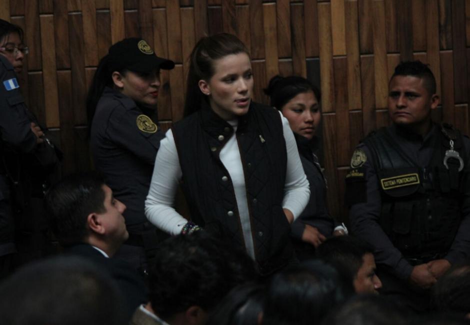 Para Daniela Beltranena también fue solicitada prisión preventiva. (Foto: Alejandro Balán/soy502)