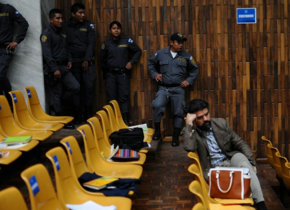 Jonathan Chévez se mostró cabizbajo durante la audiencia. (Foto: Alejandro Balán/Soy502)
