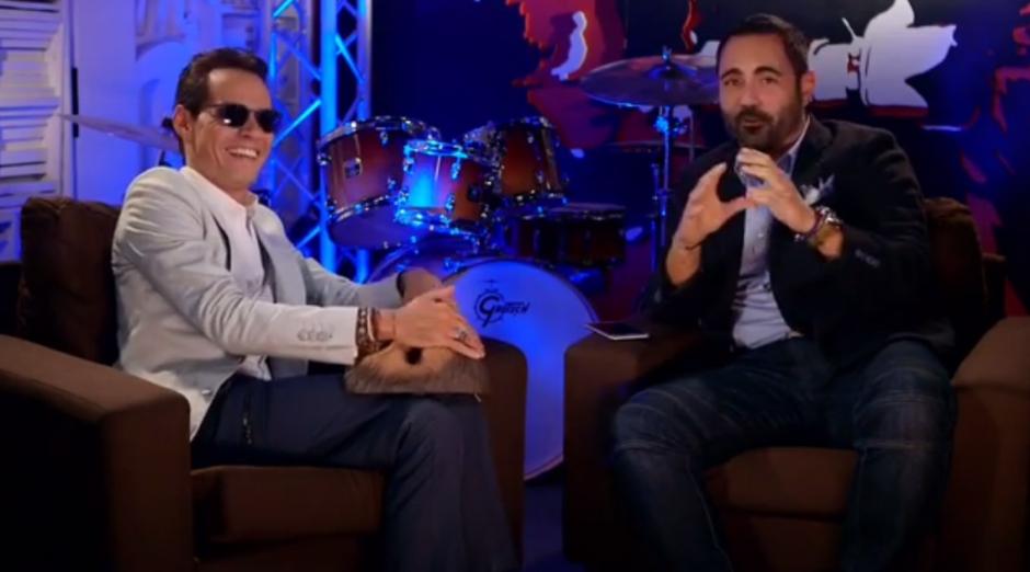 El cantante Marc Anthony fue invitado a una entrevista. (Foto: Enrique Santos/Instagram)
