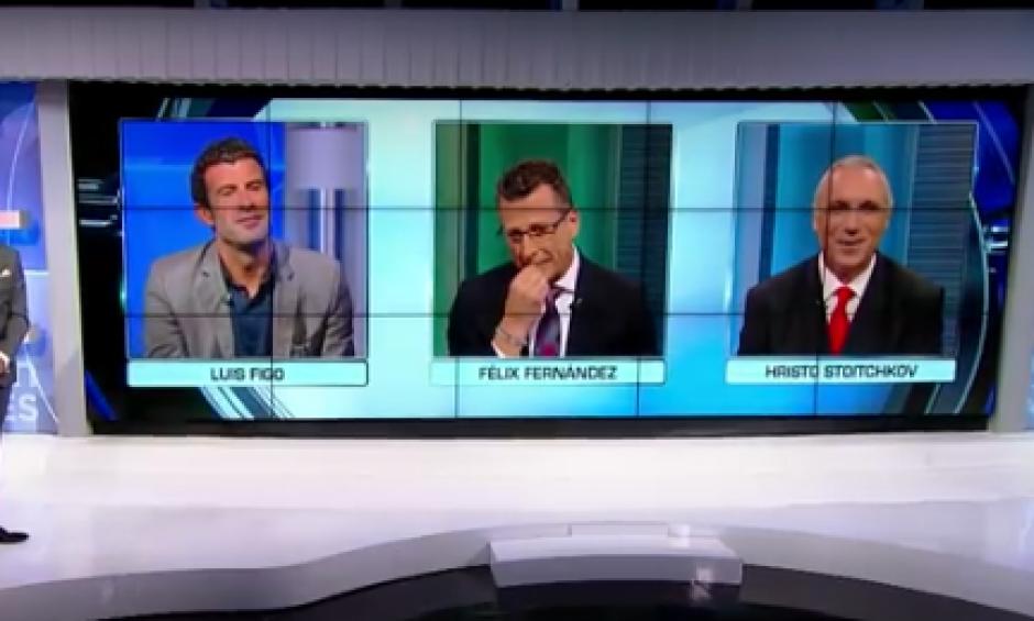 Los periodistas de Univisión reunieron en un programa a Figo y Stoichkov. (Foto: Captura de YouTube)