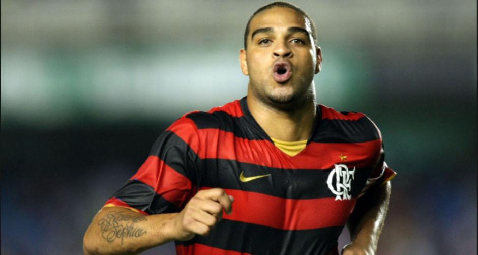 Adriano, en su etapa con el Flamengo. (FootballWallPapers)