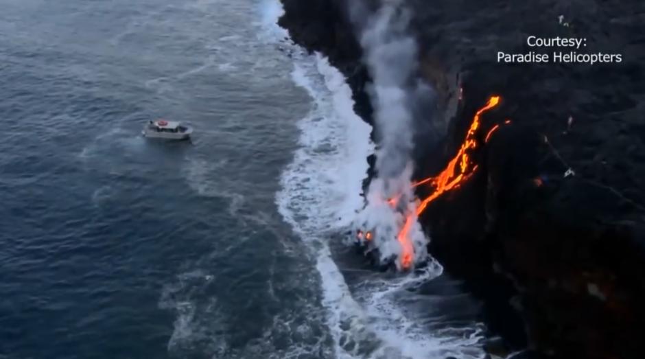 El flujo de lava atrae a miles de visitantes. (Foto: Captura de pantalla)