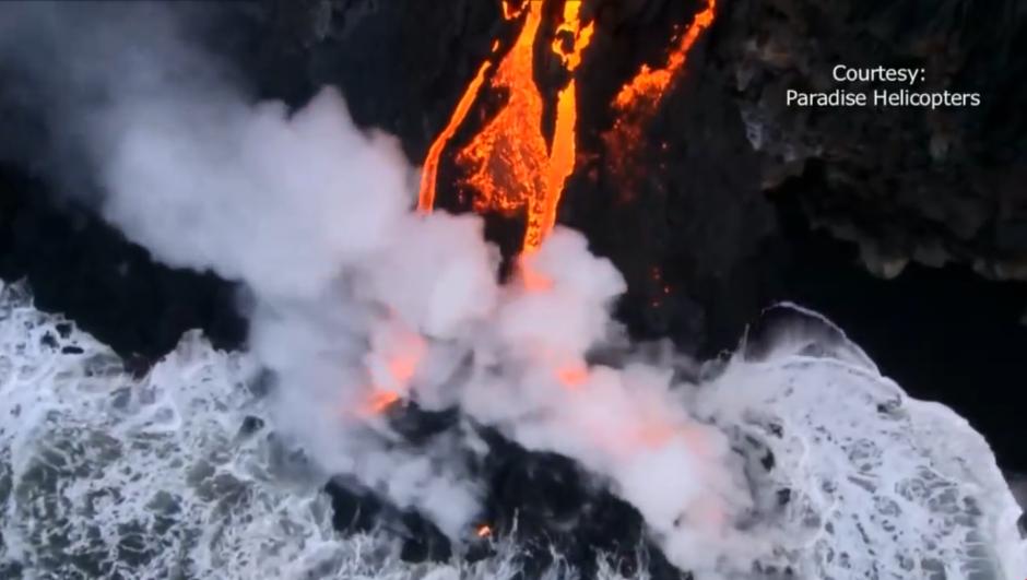 Las autoridades han dicho que la lava no representa una amenaza para ninguna ciudad. (Foto: Captura de pantalla)