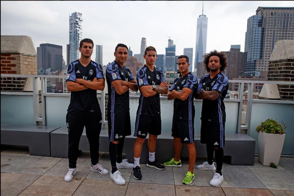 Lucas, Morata, Rodríguez, Navas y Marcelo fueron los jugadores presentes. (RealMadrid.com)