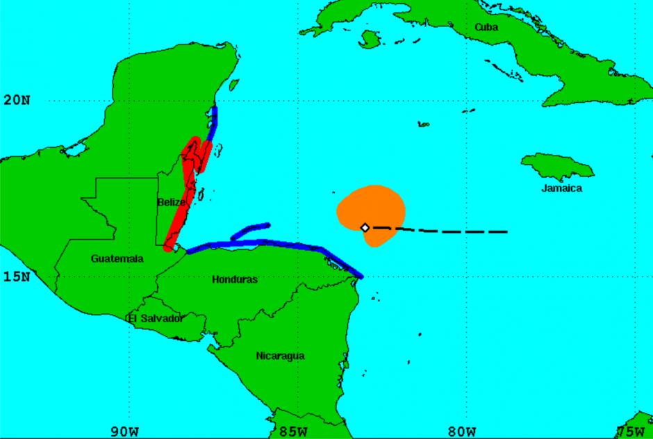 La región roja sería la más afectada por las lluvias. (Foto: NHC)