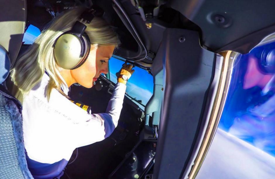 María Petterson trabaja para una aerolínea llamada Ryanair. (Foto: Instagram)
