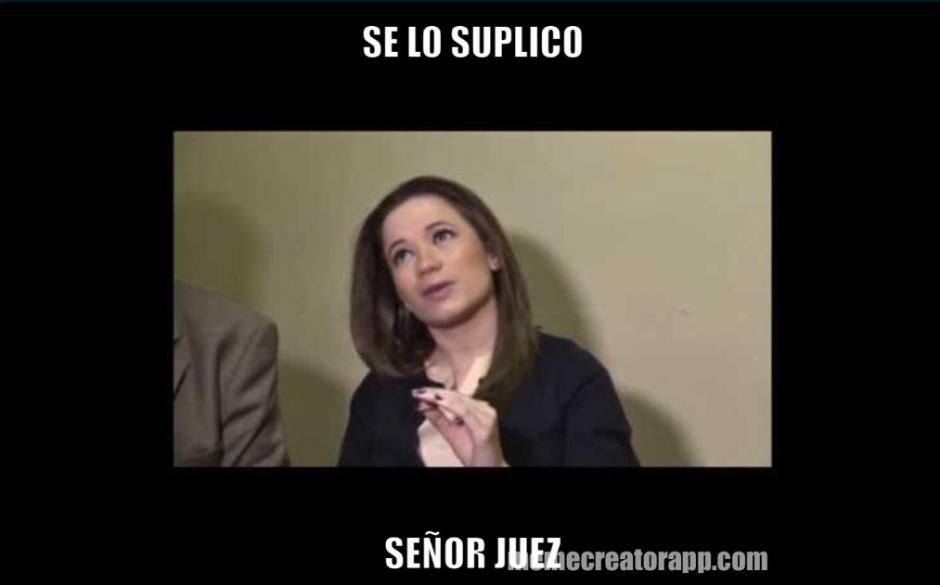 La petición hacia el juez Miguel Ángel Gálvez fue viralizada. (Foto: Twitter/@LivCardoza)