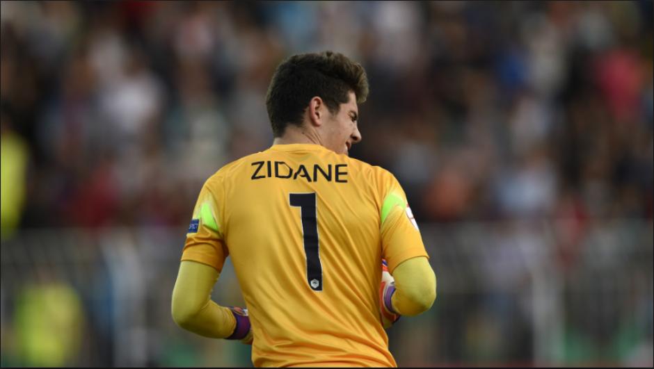 Luca Zidane, durante un partido con la selección juvenil de Francia. (Goal.com)