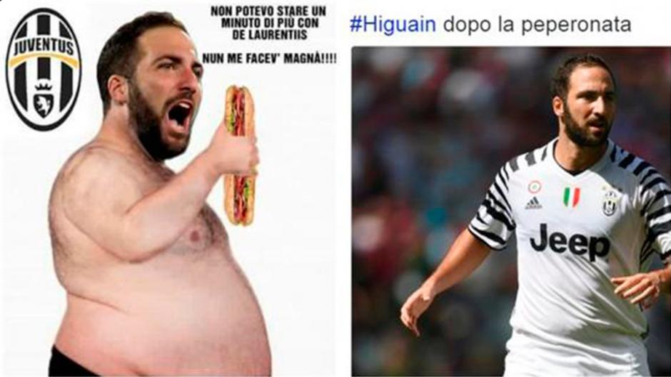 Gonzalo Higuaín volvió a ser el centro de los memes. (Twitter)