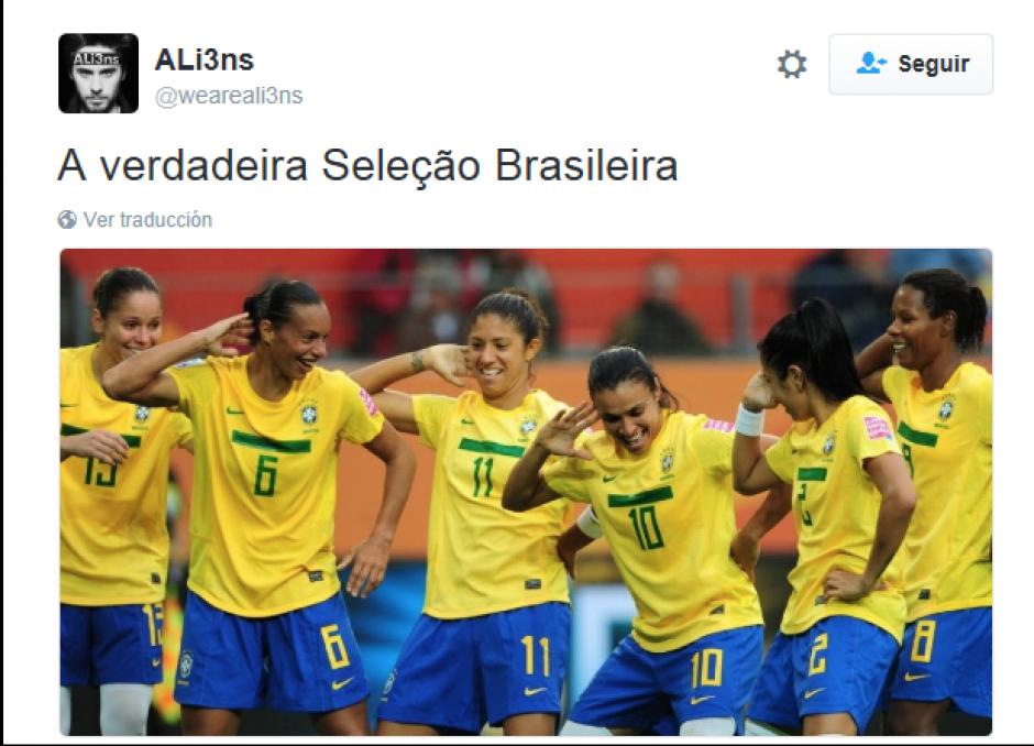 """""""La verdadera selección olímpica"""", dicen sobre las chicas. (Foto:Twitter)"""