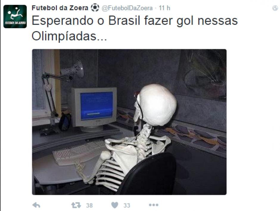 Esperando a que la selección olímpica meta un gol... (Foto:Twitter)