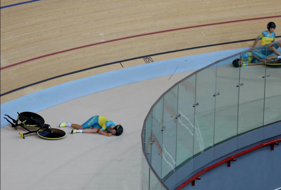 La caída fue en una práctica entre el equipo australiano. (Foto: Twitter)