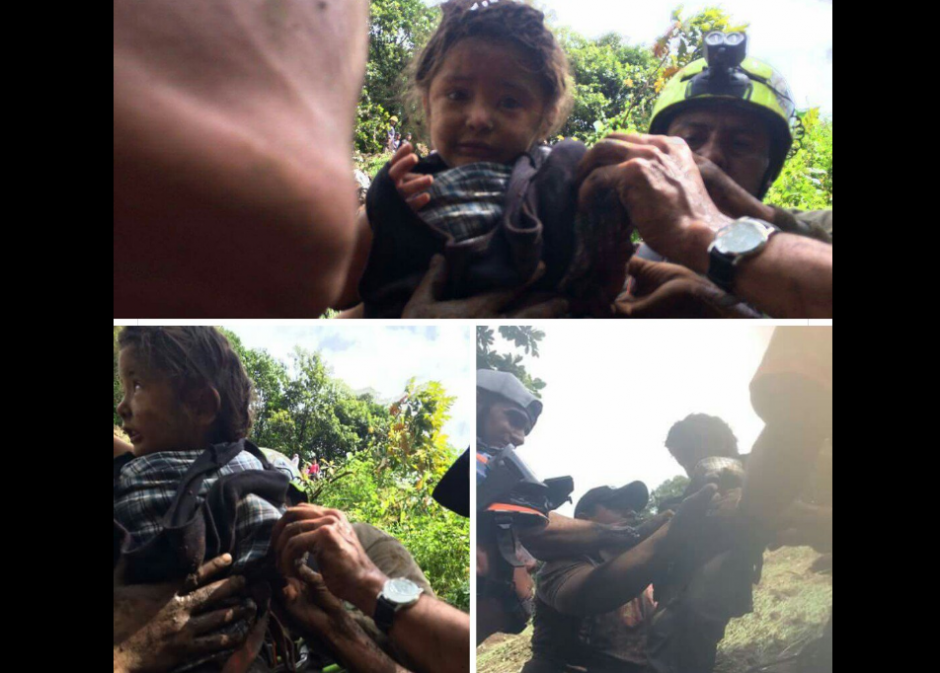Así rescataron a la menor en Puebla. (Foto: Twitter/@PC_Huauchinango)