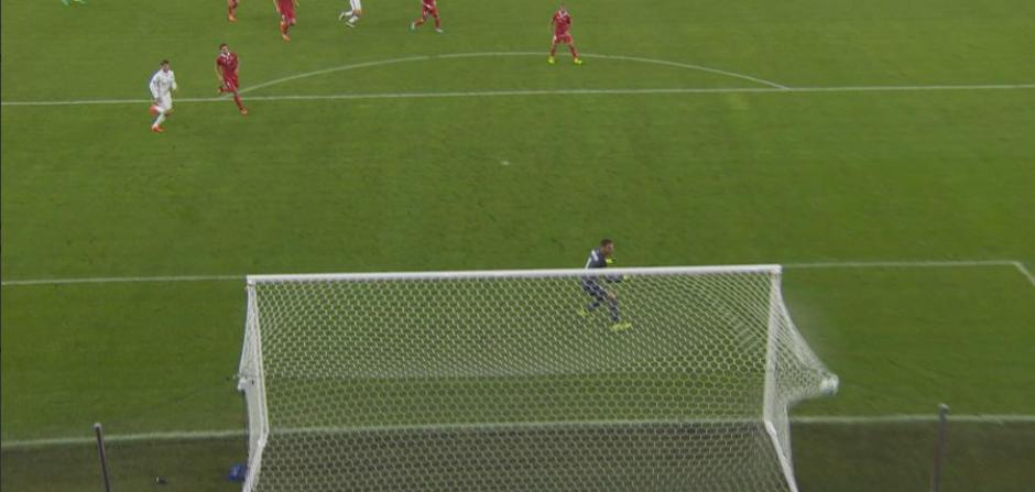 El balón entró directo en el ángulo. (Foto: BeInSports España)