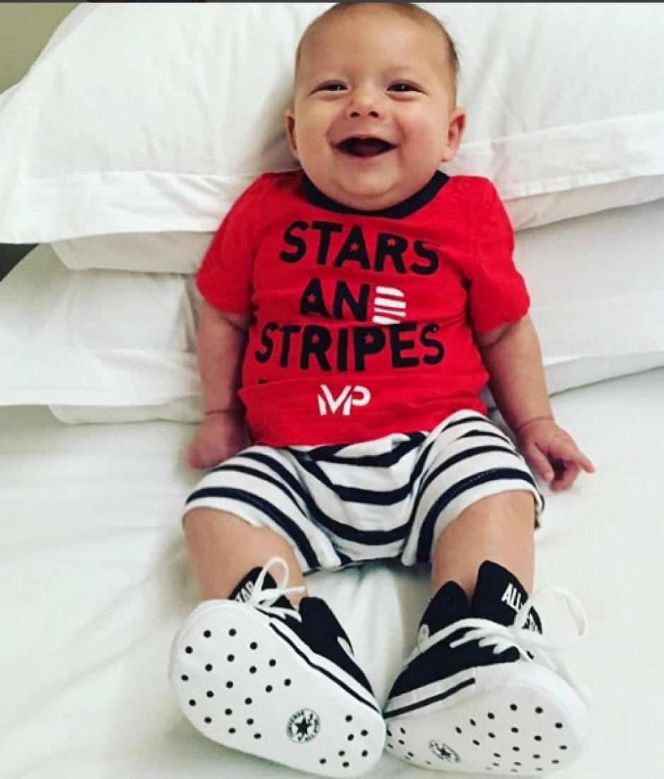 La sonrisa de Boomer motiva al multicampeón Michael Phelps. (Foto: Instagram)