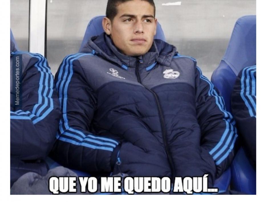 El colombiano James Rodríguez inició el partido en la banca. (Foto: MemeDeportes.com)