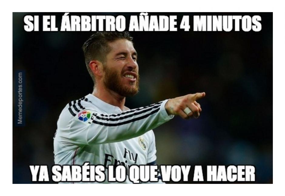 El gol de Ramos en el tiempo de reposición fue criticado.  (Foto: MemeDeportes.com)
