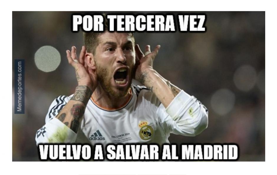 Se ha vuelto costumbre que Ramos anote en el tiempo de reposición.  (Foto: MemeDeportes.com)