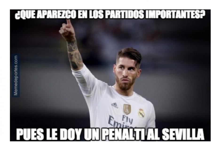 Ramos se llevó la corona de memes en la final.   (Foto: MemeDeportes.com)