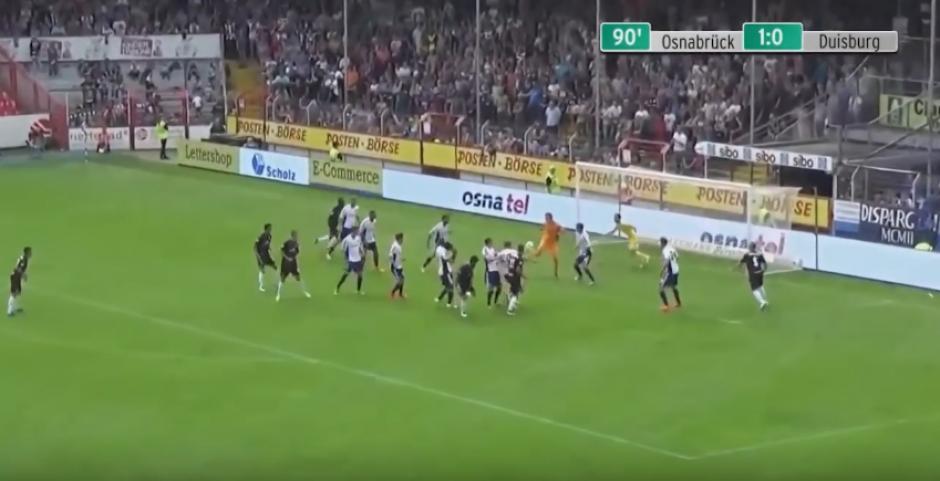 El joven apenas jugaba su segundo partido con el Duisburg alemán. (Imagen: Captura de YouTube)