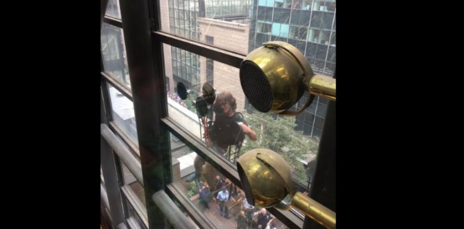 Esta es la perspectiva desde adentro de la sede de Trump. (Foto: US Today)