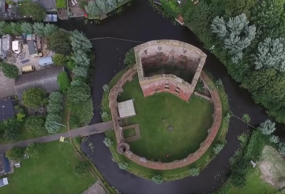 El drone intentaba obtener imágenes panorámicas. (Imagen: Captura de pantalla)