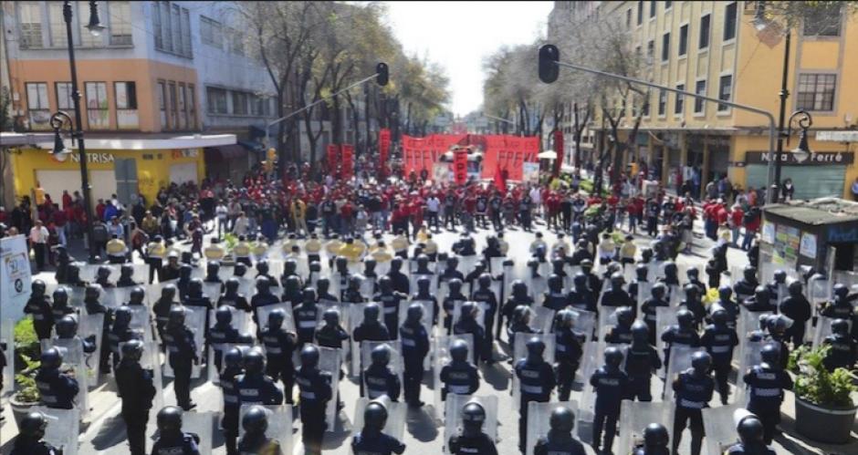 En Ciudad de México se registran en promedio 2 manifestaciones diarias. (Foto: www.aztecanoticias.com.mx)