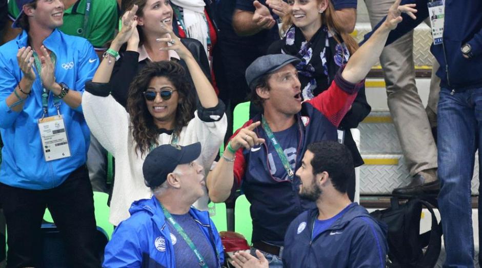 Todo fue durante la presentación de Michael Phelps en natación. (Foto: time.com)
