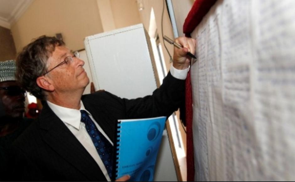 El multimillonario Bill Gates, cofundador de Microsoft, es zurdo. (Foto: Gates Foundation)