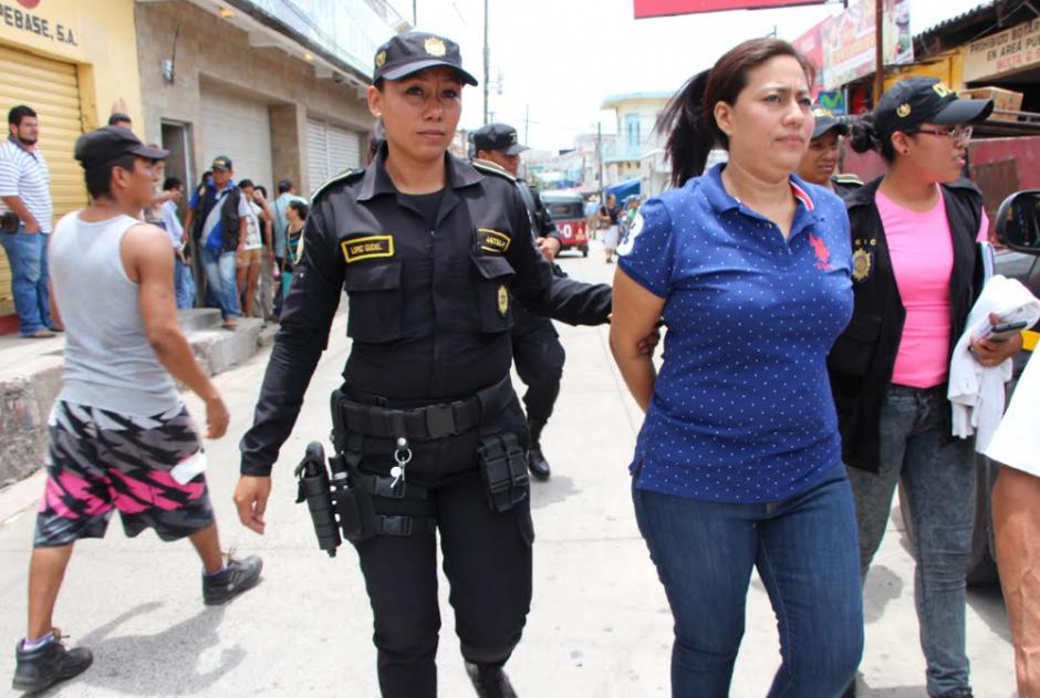 Servia Guzmán fue capturada la semana pasada sindicada de lavado de dinero. (Foto: Archivo/PNC)