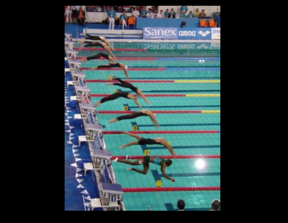 Los memes también la hicieron participar en natación. (Foto: El Comercio Perú)