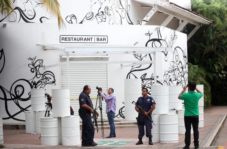 """Vista frontal del restaurante donde ocurrió el secuestro del hijo de """"El Chapo"""". (Foto: EFE)"""